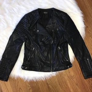 TopShop Vegan Leather Moto Jacket Women's Size 6